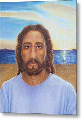 Will You Follow Me - Jesus Metal Print by Michele Myers