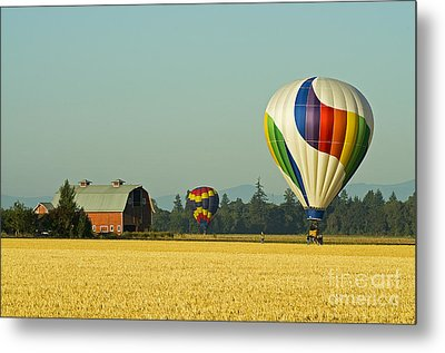 Metal Print featuring the photograph Willamette Valley Ballooning by Nick  Boren