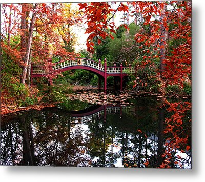William And Mary College  Crim Dell Bridge Metal Print by Jacqueline M Lewis