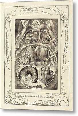 William Blake British, 1757 - 1827, Behemoth And Leviathan Metal Print