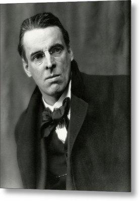 William Butler Yeats Wearing A Bowtie Metal Print