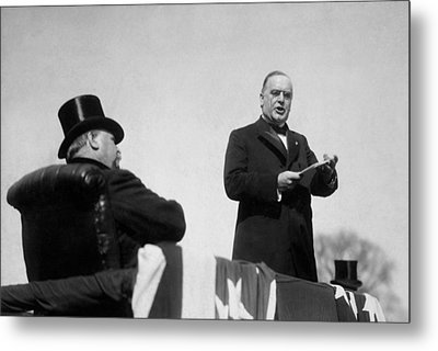 William Mckinley Making His Inaugural Address Metal Print by War Is Hell Store