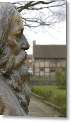 William Shakespeare Home Metal Print by Mike McGlothlen
