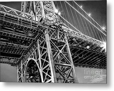 Williamsburg Bridge 5 Metal Print by Az Jackson