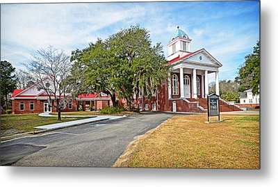 Williamsburg Presbyterian Church Metal Print by Linda Brown