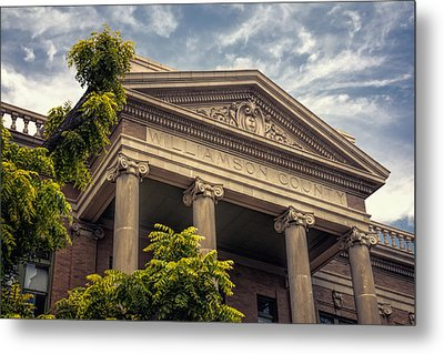 Williamson County Courthouse Metal Print by Joan Carroll