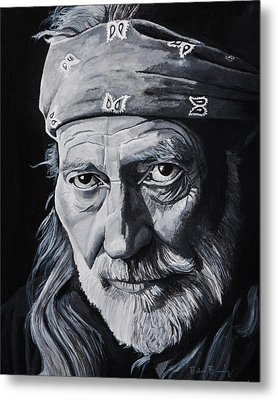 Willie  Metal Print by Brian Broadway