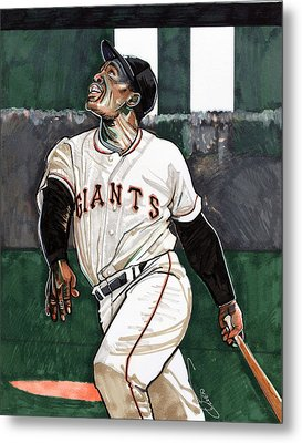 Willie Mays Metal Print by Dave Olsen