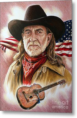 Willie Nelson American Legend Metal Print
