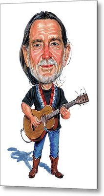 Willie Nelson Metal Print by Art