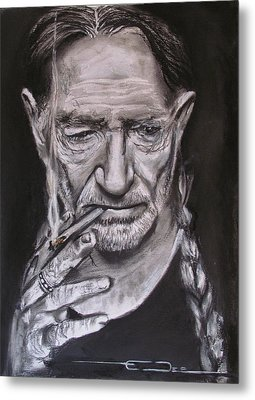 Willie Nelson - Doobie Brother Metal Print