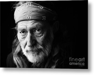 Willie Nelson Metal Print by Paul Tagliamonte