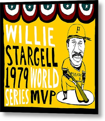 Willie Stargell Pittsburgh Pirates Metal Print by Jay Perkins