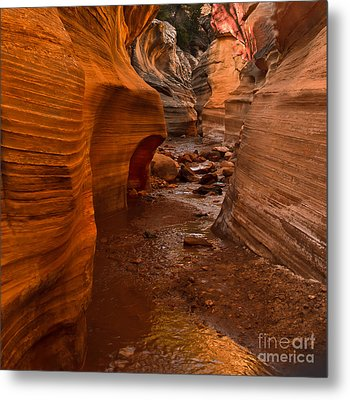 Willis Creek Slot Canyon Metal Print by Robert Bales