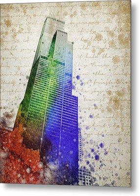 Willis Tower Metal Print by Aged Pixel