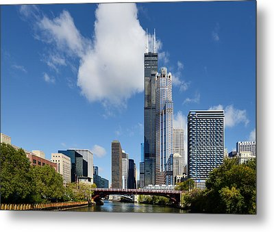 Willis Tower And 311 South Wacker Drive Chicago Metal Print