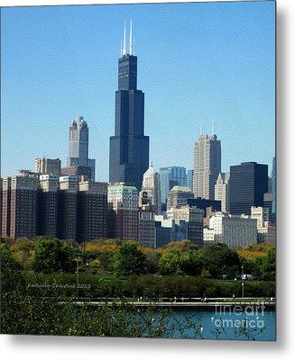 Metal Print featuring the photograph Willis Tower by Kathie Chicoine