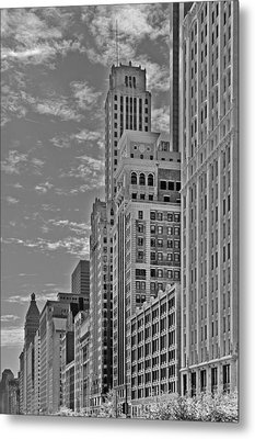 Willoughby Tower And 6 N Michigan Avenue Chicago  Metal Print by Christine Till