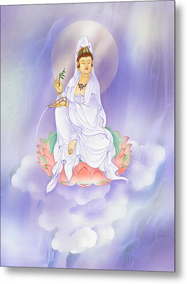 Willow Kuan Yin Metal Print by Lanjee Chee