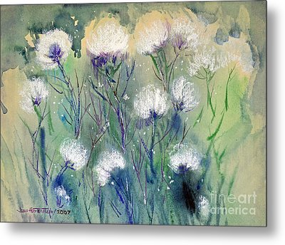Willowy Whites Metal Print