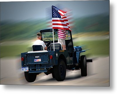 Willy Jeep From The 32nd Air Defense Metal Print by Thomas Woolworth