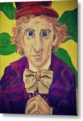 Willy Wonka Metal Print
