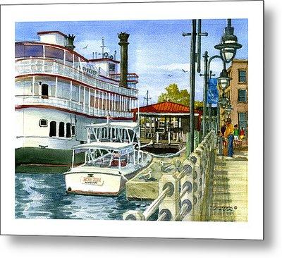 Wilmington Dock Metal Print