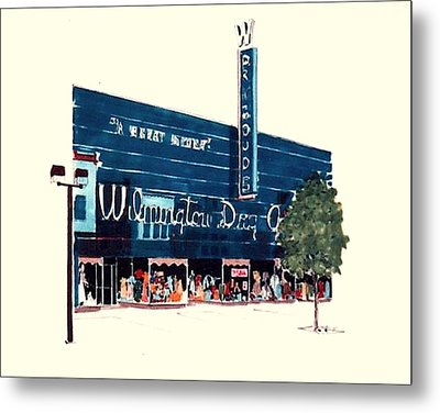 Metal Print featuring the painting Wilmington Dry Goods by William Renzulli