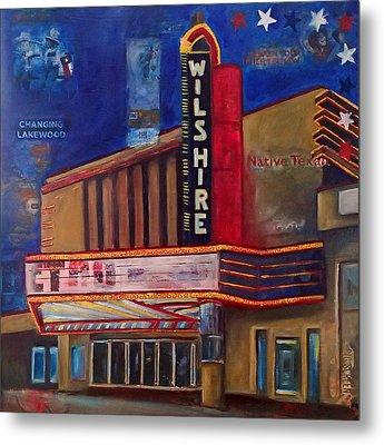 Wilshire Theater Metal Print