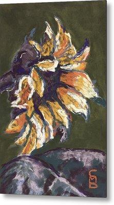 Wilting Sunflower Metal Print by Cristel Mol-Dellepoort