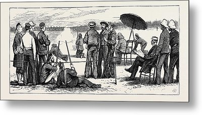 Wimbledon Camp, Shooting For The Army And Navy Challenge Cup Metal Print