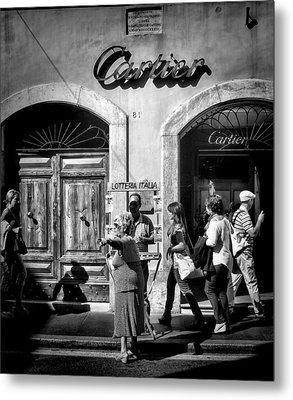 Win Lotto Buy Cartier Metal Print by Karen Lindale