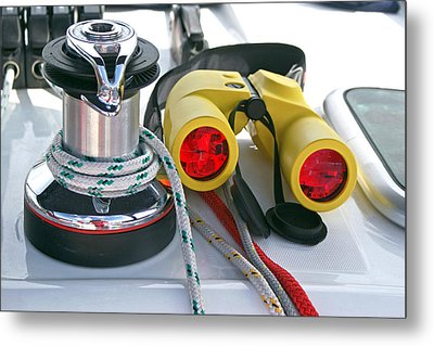 Winch And Binoculars Metal Print by Gary Eason