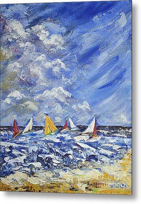 Metal Print featuring the painting Wind And Sails by Kathleen Pio