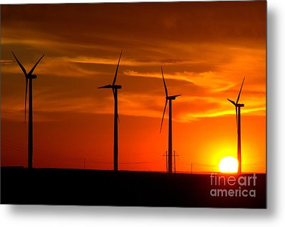 Metal Print featuring the photograph Wind And Solar 1 by Jim McCain