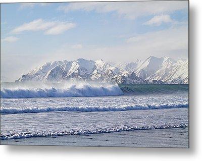 Wind And Waves On Kodiak Metal Print by Tim Grams
