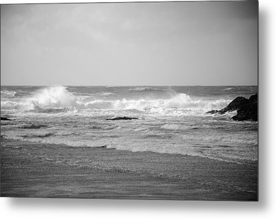 Wind Blown Waves Tofino Metal Print by Roxy Hurtubise
