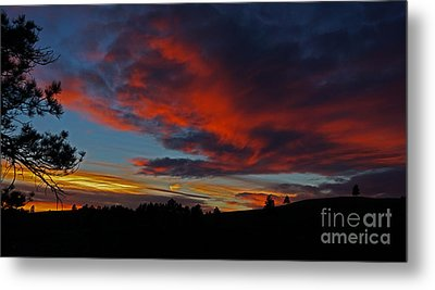 Black Hills Sunset Metal Print by Bill Gabbert