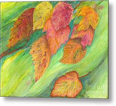 Wind In The Leaves Metal Print