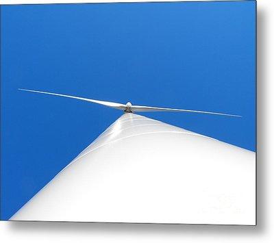 Wind Turbine Blue Sky Metal Print