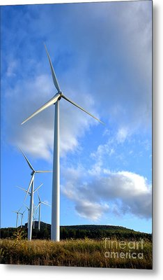 Wind Turbine Farm Metal Print by Olivier Le Queinec