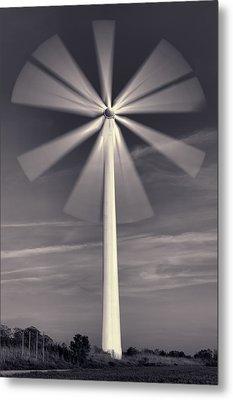 Wind Turbine Flower Metal Print by EXparte SE