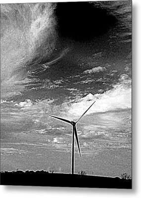 Wind Turbine Metal Print by Maria Scarfone