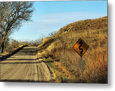 Metal Print featuring the photograph Winding Country Road by Bill Kesler