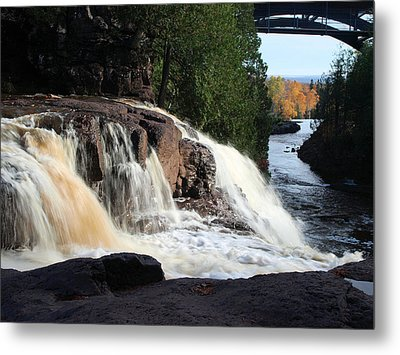 Winding Falls Metal Print by James Peterson