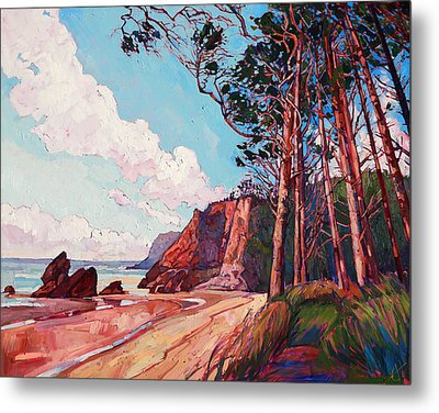 Winding Pines Metal Print by Erin Hanson