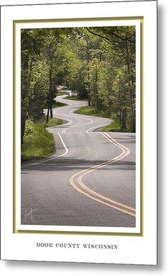 Winding Road Door County Metal Print by Barbara Smith