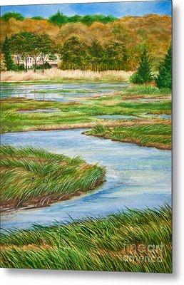 Winding Waters - Cape Salt Marsh Metal Print by Michelle Wiarda