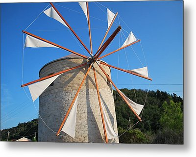 Windmill  2 Metal Print by George Katechis