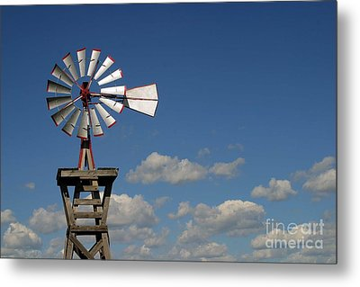 Windmill-5764b Metal Print by Gary Gingrich Galleries